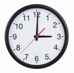 Round clock is exactly three hours