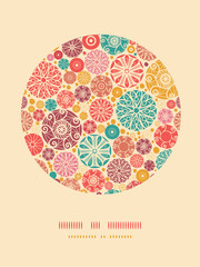 Vector abstract decorative circles oval decor pattern background
