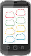 Cloud computing concept. Mobile phone with cloud icon