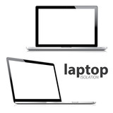 Laptop isolation vector eps10