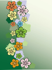 Floral background with flowers.