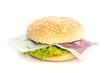 Chinese Yuan burger with bank notes