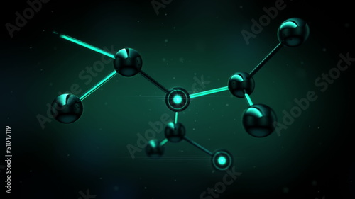 Beautiful Molecule Structure in microscope. HD 1080.