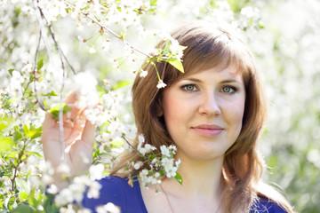 portrait of girl in spring