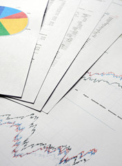 aktienindex, analyse, büro