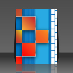Seamless blocks vector background - flyer design