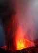 Vulkanausbruch, Eruption mit Magma und Asche