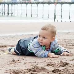 Child at beach