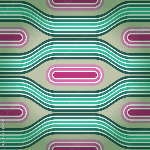 Seamless retro background in blue and pink tones. Eps10 © tairen