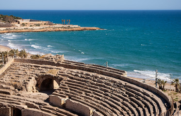 Roman amphitheater of Tarragona.Spain