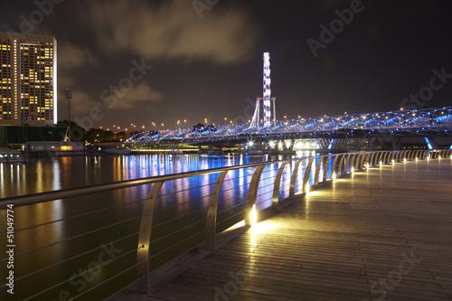 Fotobehang Singapore Helix Brücke, Singapur 4