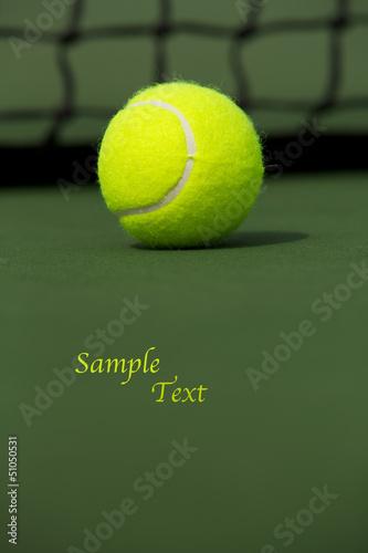 Staande foto Stierenvechten Tennis Ball Isolated on the Court