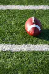 American Football near yard lines