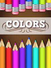Fondo lápices de colores