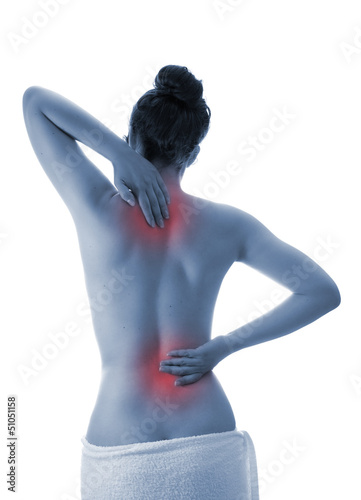 woman with back pain - selected areas