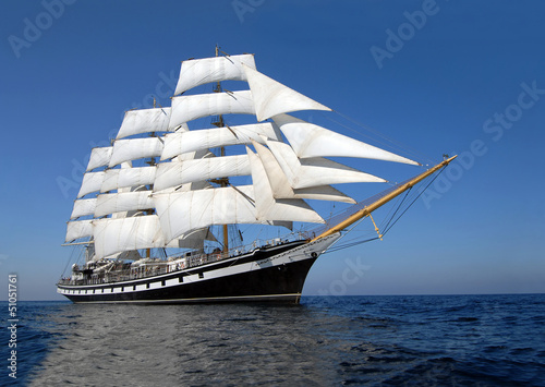 Foto op Plexiglas Jacht Sailing ship