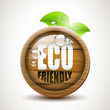 ECO friendly - wooden icon