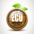 ECO friendly - wooden icon