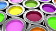 paints, loop-able 3d animation