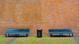 Bench and Brick Wall - 51053969