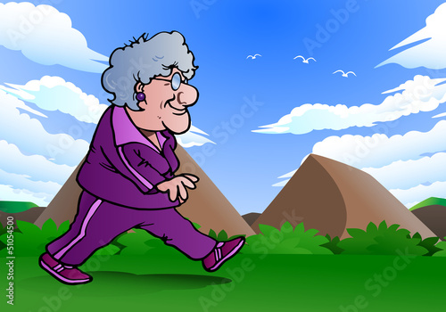 grandma walking