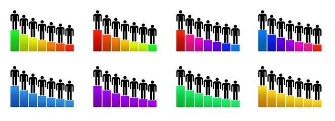 Grafico di crescita, valutazione e innovazione
