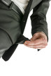 Bottom view of businessman hand showing empty pocket
