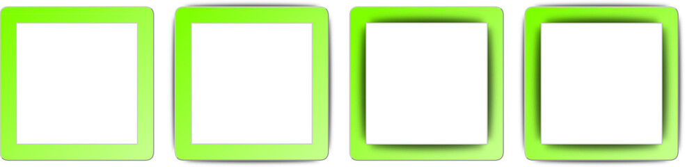 Chartreuse Green and White Shadow Square App Icon Set
