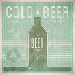 Beer Vintage Design Template
