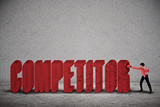 Businessman hit competitor poster