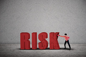 Businessman hit risk
