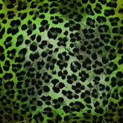 Green cheetah pattern