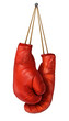 canvas print picture - Boxing Gloves Hanging