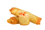 isolated vegetable spring rolls
