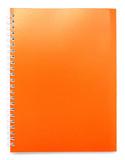 orange color cover note book
