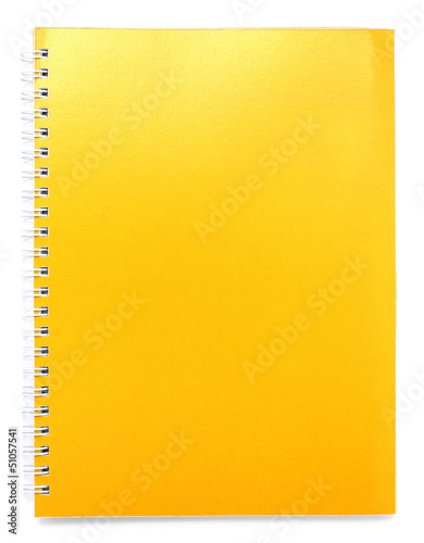 yellow color cover note book