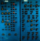 Control panel in old laboratory