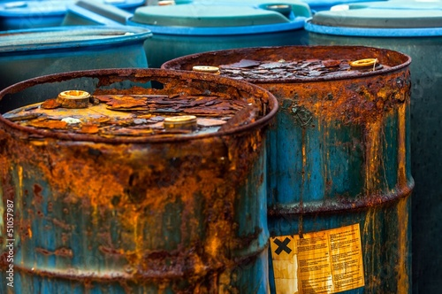Several barrels of toxic waste