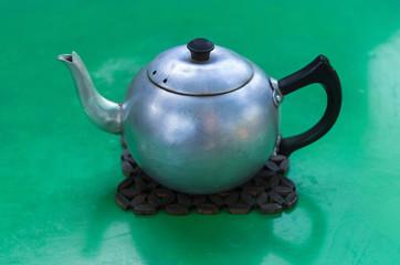 Metal tea pot