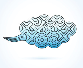 clouds design element in oriental style