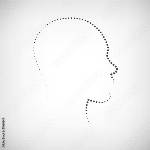 Kopf Kontur