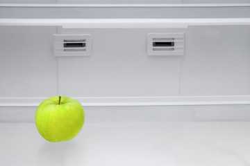 Apple in a refrigerator