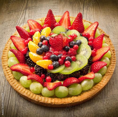 Fototapeta torta con frutta fresca