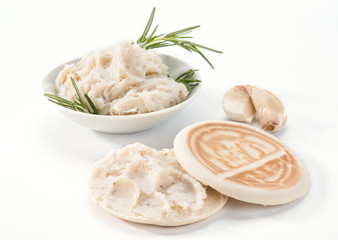 Tigelle con lardo - Tigelle with lard