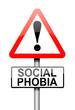 Social phobia concept.