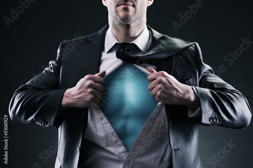Superhero businessman Plakat