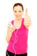 Musik hörendes Mädchen