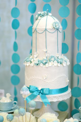 Two stories wedding cake