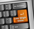 "Keyboard Illustration ""Lose Weight Online"""