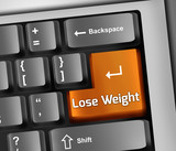 "Keyboard Illustration ""Lose Weight"""